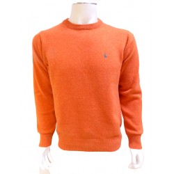 Pull Ras du Cou Lambswool Orange BANDE ORIGINALE