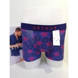 Boxer Bise Coeur Marine ARTHUR