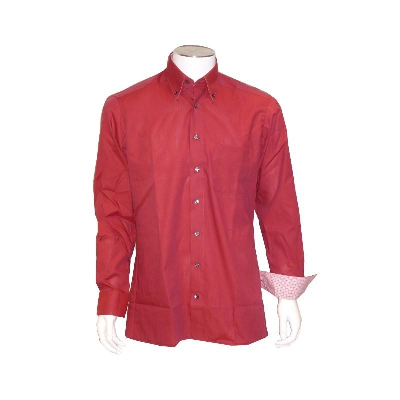 Chemise Ville Fil à Fil Rouge OLYMP