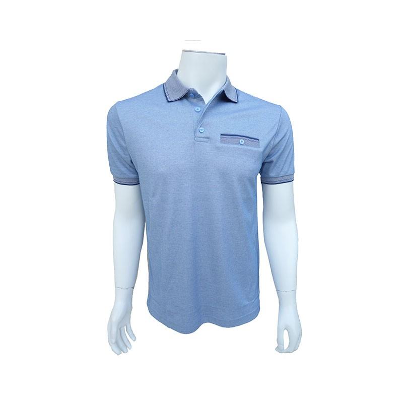 Polo Manches Courtes Bleu COFOX