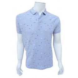 Polo Briki Motifs Lunettes Bleu Ciel LEE COOPER
