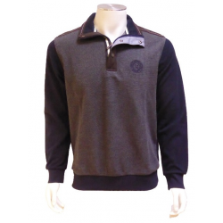 Polo Sweat Bicolore gris/marine OLIVER HOLTON