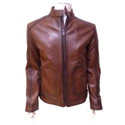 Blouson biker cuir vieilli MCS