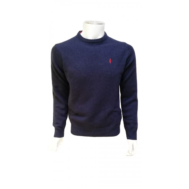 Pull Lamswool Col Rond Marine MCS